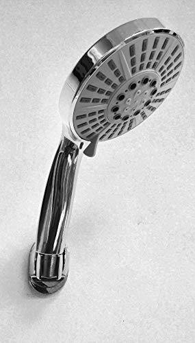 Great Quality 12.5cm Big 5 Function Anti Lime Scale Shower head by HOUSLER Lime Tray Set