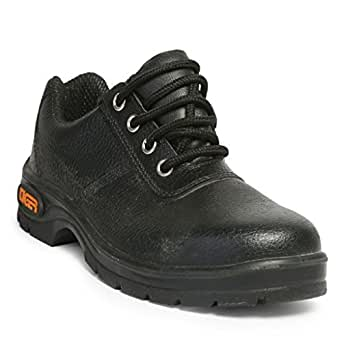 Tiger Men's Low Ankle Lorex Steel Toe Safety Shoes (Size 9 UK, Black, Leather)