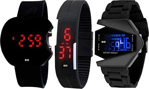 BID New Stylish 3 Digital Combo Watches for Kids and Boys Today Fashion Fast Selling Product (Wedding wear/Casual wear/Party wear/Formal wear/) Watches for Kids and Boys Watch - for Boy