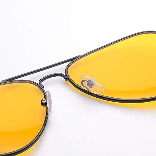 FZBK Casual Wrap Ladies SonnenbrilleNight Vision Brille Direktmarketing Nachtsichtbrille Nachtsicht Yellow Tablets Classic HarbinNight Vision Film_Gun grauer Rahmen