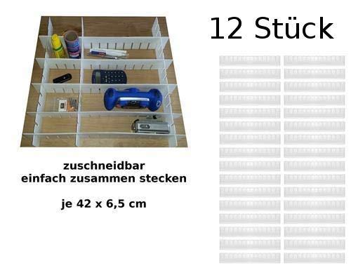 my basics Schubladeneinteiler silber 8 x 8 cm Schubladen teiler Fach Einteiler