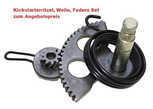 Kickstarter-Ritzel-Welle-Feder-Reparatur-Set-fr-50ccm-Minarelli-Motoren-Aprilia-Amico-Area-Rally-Scarabeo-SR-50-Malaguti-F10-F12-Phantom-Yesterday-MBK-Booster-Fizz-Nitro-Rex-Yamaha-Aerox-Jog-50