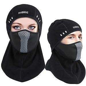 HQKJ Winddicht Sturmhaube Balaclava Atmungsaktiv Lycra Vlies Ski-Maske Motorradmaske, elastisch universelle Größe zum Erwachsene Jugendliche