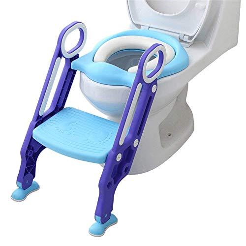 Towinle Töpfchentrainer Toiletten-Trainer Kinder Töpfchen Kinder-Toilettensitz mit Leiter Töpfchen Sitz mit Treppe 75 Kg belastbar