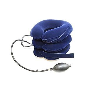 CHISOFT Nacken-Stimulationsgerät / Nackenstütze für verbesserte HWS-Traktion, größere Hand-Pumpe, längeres Klettverschlussband, schnelle Linderung bei Nackenschmerzen