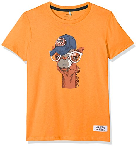 NAME IT Jungen T-Shirt Nkmjacob SS Top, Blau (Copper Tan), 134 (Herstellergröße: 134-140) (Tan-jungen Shirt)