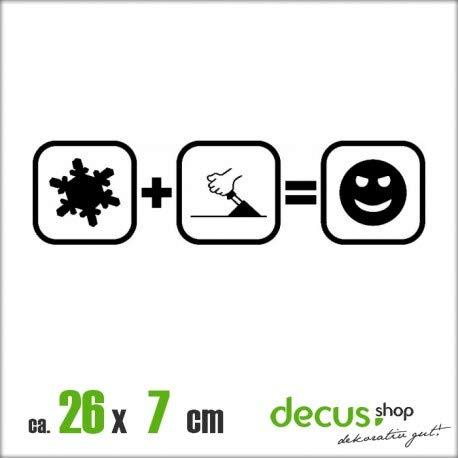 Decus Schnee HANDBREMSE Fun XL 2374 // Sticker OEM JDM Style Aufkleber (Mint) -