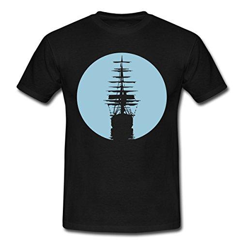 Windjammer Schifffahrt Segeln Segelschiff Meer Männer T-Shirt von Spreadshirt®, L, Schwarz