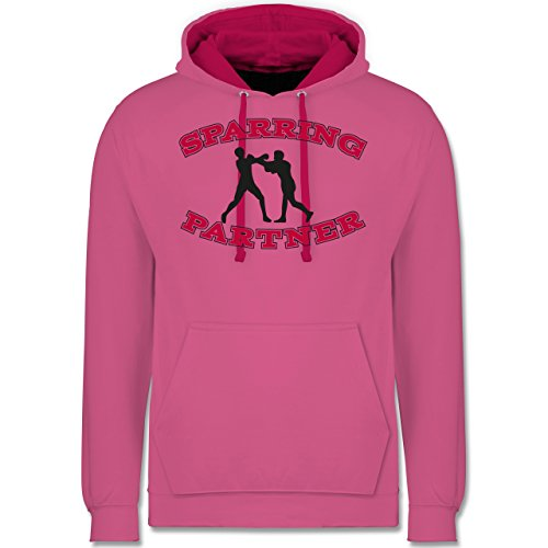 Kampfsport - Boxer - Kontrast Hoodie Rosa/Fuchsia
