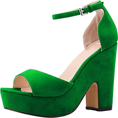 CFP , Bride de cheville femme green