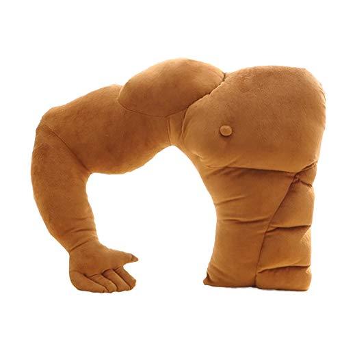 Ndier Die Muskeln des menschlichen Körpers Arm Plüsch Baumwolle Kissen Boyfriend-Kissen Mann Kissen für Heim und Büro Dorm Dekoration 23