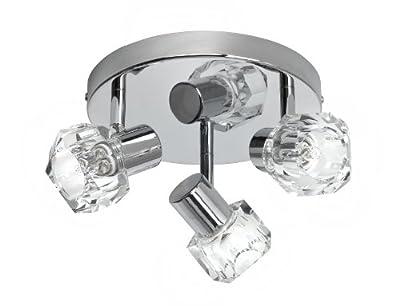 Brilliant Spotrondell Crystal, chrom / transparent G35134/15