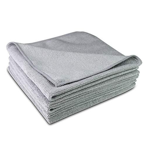 TROCKENPANDA Mikrofasertücher extrem saugstark und fusselfrei - Perfekt für die Reinigung im Haushalt, für Autos oder Motorräder [5 STK - 40x40 cm] Premium Tücher