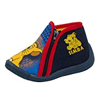 Disney Lion King Boys Slipper Booties Kids Simba Zip Up Toddler House Shoes