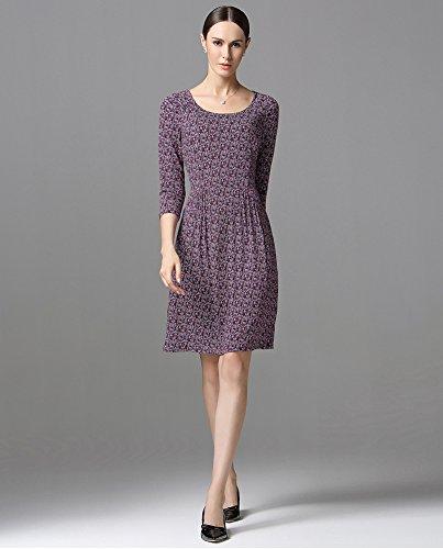 Sarah Dean Newyork - Robe - Robe - Femme violet Printed Printed