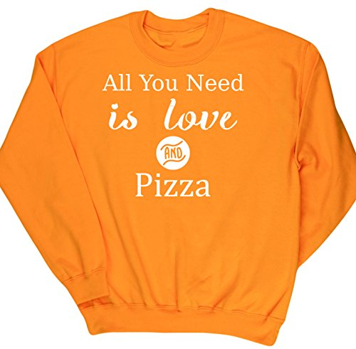 hippowarehouse-all-you-need-is-love-and-pizza-unisex-jumper-sweatshirt-pullover