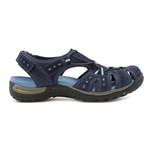 Earth Spirit pour Femme en Cuir Fermeture Velcro Sandales en bleu Bleu - bleu