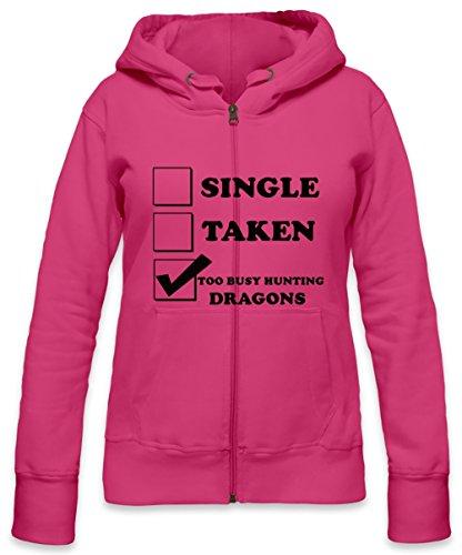 Single Taken Too Busy Hunting Dragons Womens Zipper Hoodie X-Large