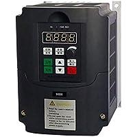 220V 1.5KW Inversor de frecuencia, monofásico Convertidor de frecuencia de 3 fases de salida del convertidor de velocidad ajustable de frecuencia de accionamiento del inversor, para el motor de 3 fases