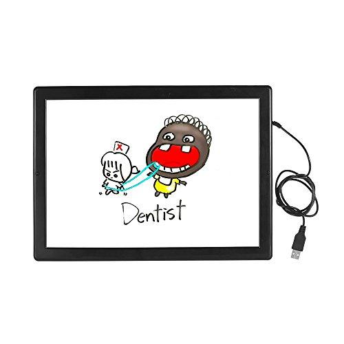 aibecy Tablet Schreib LED Doppelseitiges Botschaft Zeichnung Pad elektronische Schreiben Halterung USB Schnittstelle (Schlanke Grafiken)