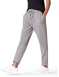 Amazon-Marke: find. Jogginghose Damen Jersey mit schmal zulaufendem Bein