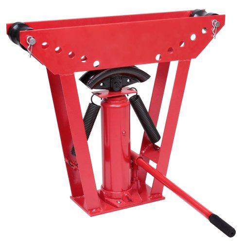 Preisvergleich Produktbild Timbertech Hydraulischer Rohrbieger Rohrbiegemaschine Bieger Rohrbiegegerät Pressdruck 12t bis zu 90° inkl. 6 Druckstücke