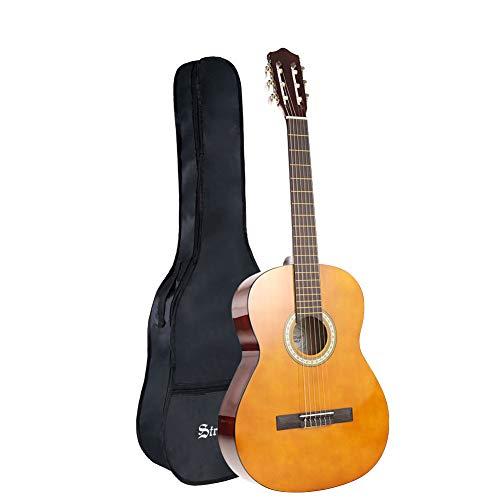 Strong Wind Guitarra clásica acústica 4/4 tamaño completo,con funda