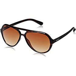 Fastrack Gradient Aviator unisex Sunglasses (P296BR2|61 millimeters|Brown Gradient)