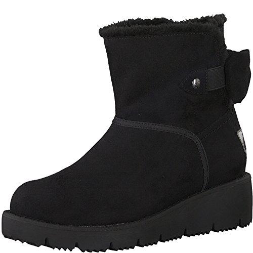 s.Oliver Damen Winterstiefel 26419-21,Frauen Winter-Boots,Fellboots,Fellstiefel,gefüttert,Warm,SoftFoamsO Decksohle,Black,EU 36