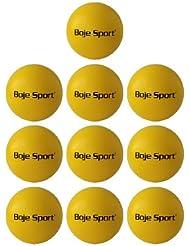 """10x pelotas de espuma con """"piel de elefante"""" Ø 16 cm amarillo, emblema Boje Sport"""