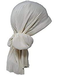 Plisee-Kopfbedeckungen mit langen Bändern, bei Haarausfall, Krebs, Chemo