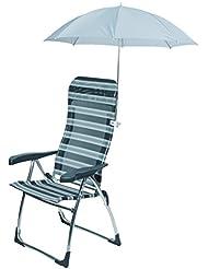 Bo-Camp Parasol de chaise Gris Diamètre 106 cm