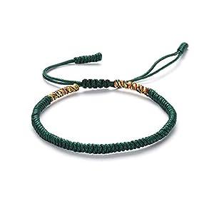 Dragonface Handgestrickte Silk Seil-Armband Tibetische Buddhistische Knoten gesponnene glückliche Buddhismus-Armband-justierbare Freundschaft Geschenk Handgemachte