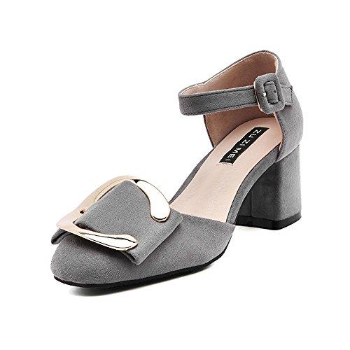 Shoemaker's heart traspirante sandali in pelle nuova moda estate All-Match parola fibbia Baotou fibbia in metallo Forty