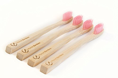 Planet Bamboo Bambus Zahnbürste für Kinder (4 Stück)