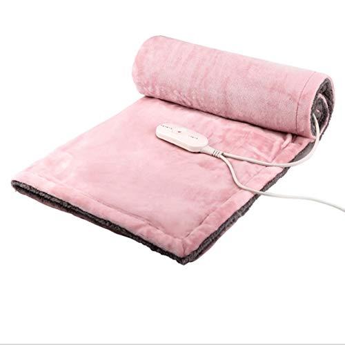 YAOBAO Heizdecke, Tragbare Niederspannungs-Multifunktions-Fern-Infrarot-Wärmebehandlung Physiotherapie Elektrische Heizung Knieschützer,Pink,105 * 85Cm