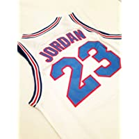 Looney Tunes Space Jam #23 Jordan Basketball Jersey White Throwback Jerseys Sleeveless Breathable