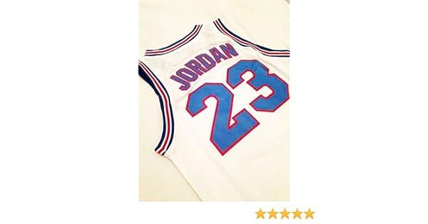71643ef8 Looney Tunes Space Jam #23 Jordan Basketball Jersey White Throwback Jerseys  Sleeveless Breathable: Amazon.co.uk: Sports & Outdoors