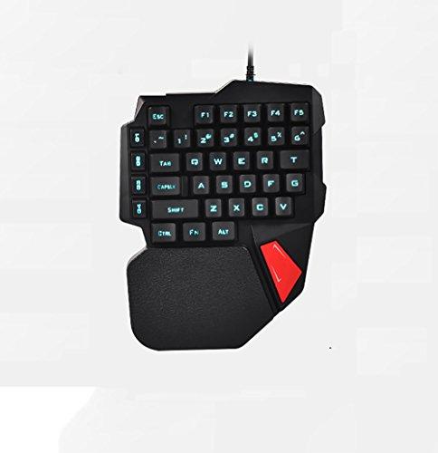 TBY USB Manipulator Sense Tastatur, Single Handverdrahtet Tastatur, Spiel-Tastatur, Notebook, Computer-LED-Licht Tastatur, - Lichtschalter Single
