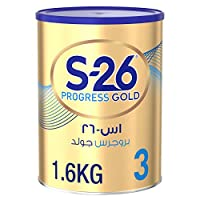 Wyeth S-26 Progress Gold Stage 3, 1-3 Years Premium Milk Powder Tin for Toddlers, 1.6 kg