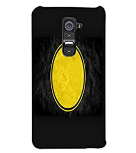 LG G2 YELLOW CIRCLE Back Cover by PRINTSWAG