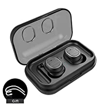 TIMMY TWS-8 Bluetooth Headphones BT5.0 Touch Headphones In-Ear Wireless Stereo Earbuds IPX5-Waterproof and Sweatproof Bluetooth Headset for Mobile Phones