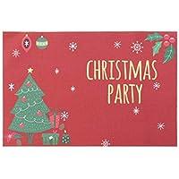 BESTOYARD Esteras de la Mesa de Comedor a Prueba de Calor de la Mesa de Comedor de Navidad Lavable Impresión de Navidad Posavasos Antideslizantes
