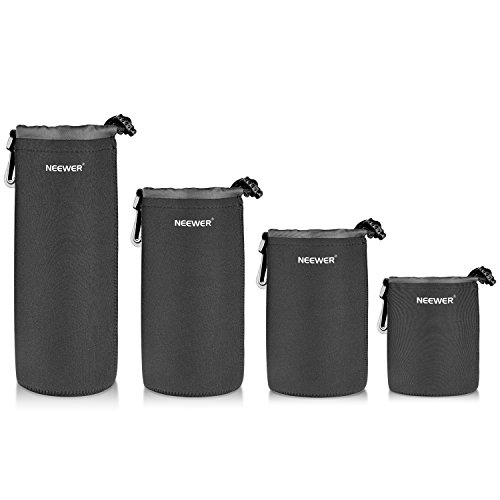 Neewer-4-Pack lente protectora de neopreno Set: Pequeño, Mediano,