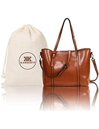31649ffefc5 KAMIERFA Tote Bags for Women Designer Italian PU Leather Large Capacity  Classic Ladies Tote Handbags Cross Body Shoulder Bags for Work…