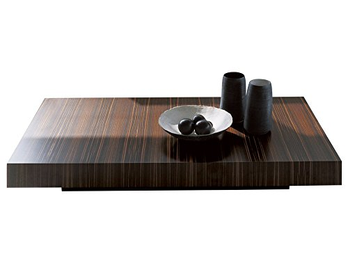 Afydecor Modern Coffee Table with Storage Space - Brown