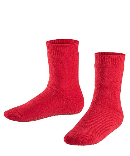 FALKE Kinder Stoppersocken Catspads - Baumwoll-/Merinowollmischung, 1 Paar, Rot (Fire 8150), Größe: 27-30