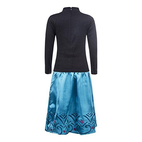 Imagen de elsa  vestido de coronación de la reina del hielo con falda para niña, color turquesa, 7 8 años, katara 1688  alternativa