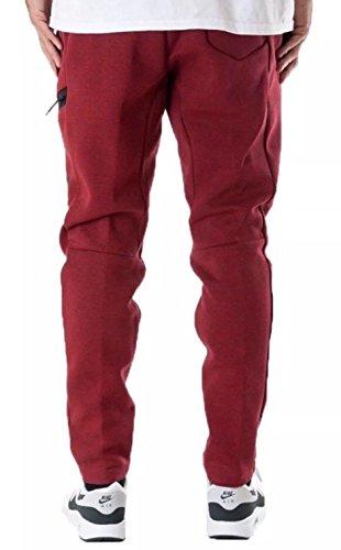 Nike - mod. M Nsw Tch Flc–Pantaloncini da uomo Rosso (Rosso / melange / Nero)
