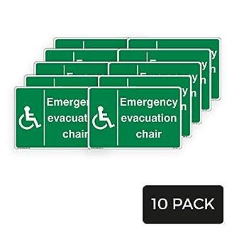Notfall Evakuation Chair Schild - Standard [3 mm Aluminiumverbundwerkstoff, 600 mm x 400 mm - A2] - 10 Stück
